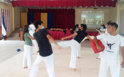 Atletas de FAREM-Matagalpa en actividades virtuales